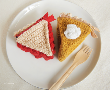 crochet, food crochet, pie, cake, yummy crochet, diy, homemade, cute, tea party