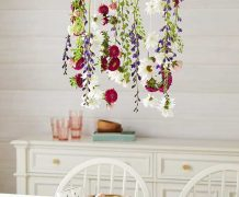 chandelier, diy handelier, floral chandelier, birthday, tea party, princess party, decoration, dining room, interior design