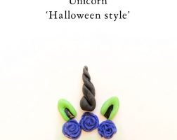 etsy, unicorn witch, unicorn, halloween, fondant cupcake topper, cakepop, haloween cupcakes