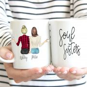 custom coffee cups, twin coffee mugs, personalized mugs