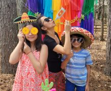 pinata, cinco de mayo, diy garland, rainbow backdrop, rainbow garland, dessert table, photobooth